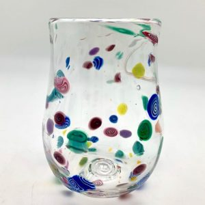 Hand-Blown Confetti Wine Glass by Daniel Gaumer