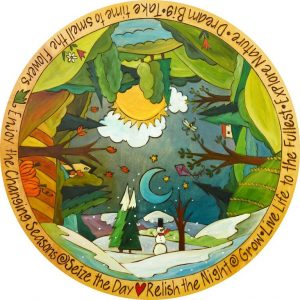 Around the World in 365 Days Lazy Susan by Sincerely Sticks