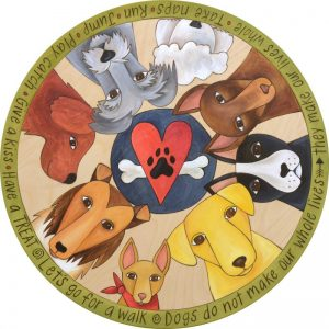 Life with Dogs Lazy Susan by Sincerely Sticks