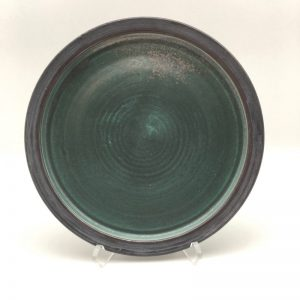 Green Porcelain Plate by Margo Brown - 9194