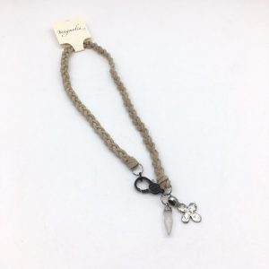 Braided Leather charm Necklace by Kate Harness - 10