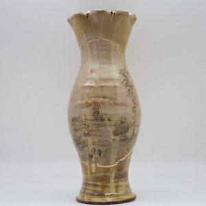gold veined painted Terracotta Vase by Mary Briggs