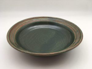 green Porcelain Salad or Pasta Bowl by Margo Brown - 0424