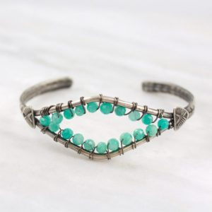 Open Amazonite Southwest Cuff by Sarah DeAngelo