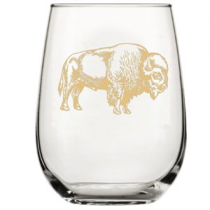 Tan Bison Stemless Wine Glass