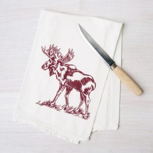 Moose Flour-Sack Tea Towel by Counter Couture