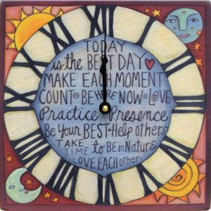 Time to Shine Clock by Sincerely Sticks
