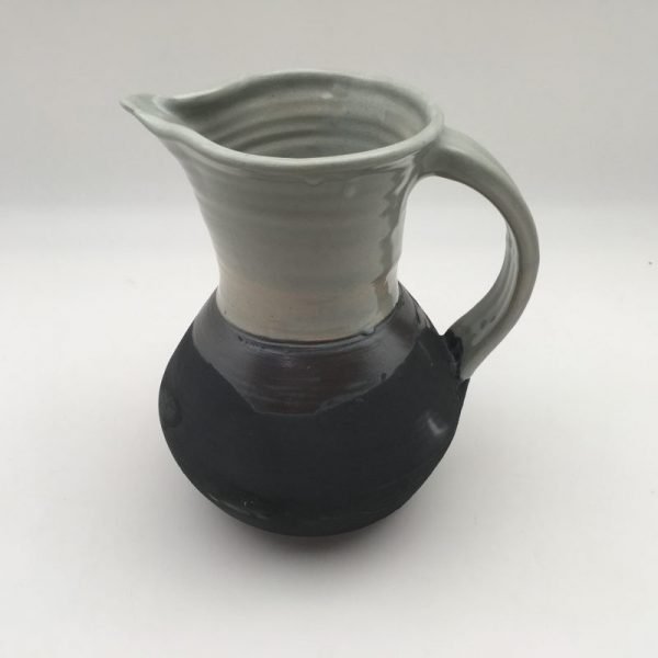 two tone Celadon and Black Porcelain Pitcher by Margo Brown