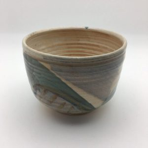 Tan Porcelain Bowl by Margo Brown - 1257