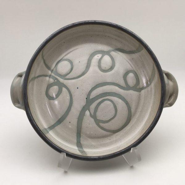 Swirl White Stoneware Open Casserole Dish by Margo Brown