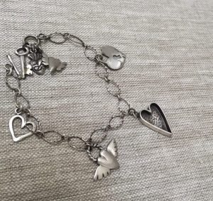 silver Heart Charm Bracelet by iNK