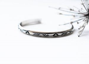 Sterling Silver Southwestern Headed West Cuff by Andewyn Moon