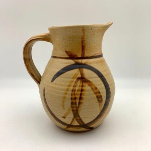 brown Stoneware Pitcher by Margo Brown - 9372