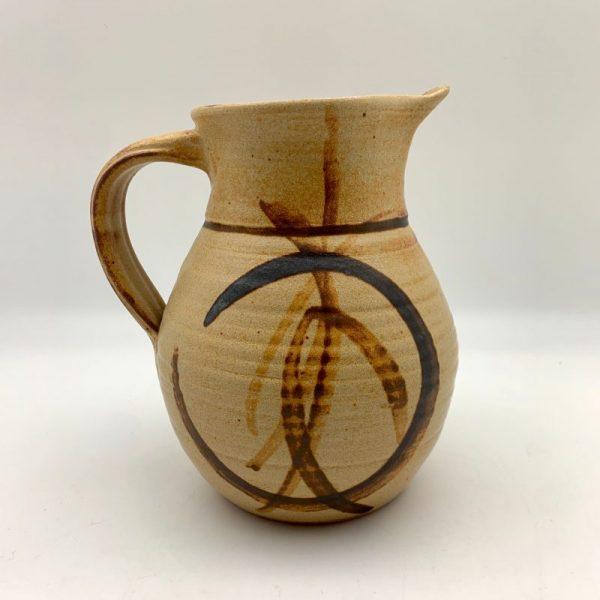brown Stoneware Pitcher by Margo Brown - 9372