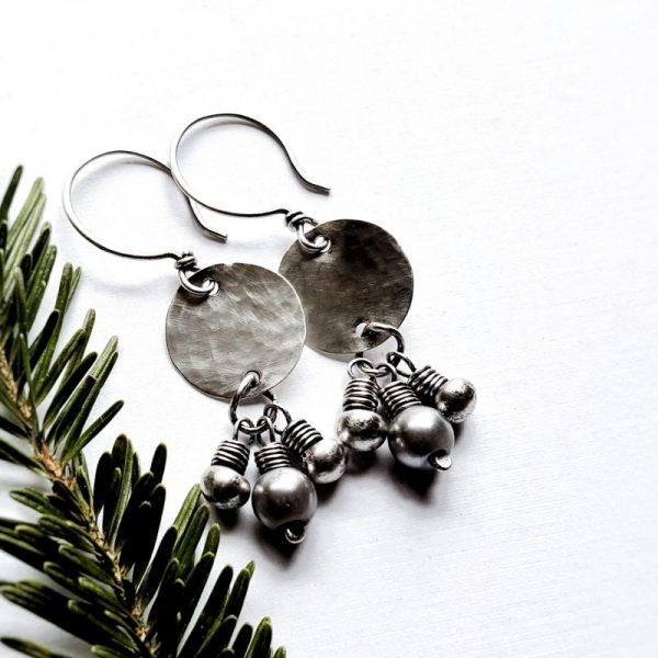 Sterling Silver Pentale Earrings by Andewyn Moon