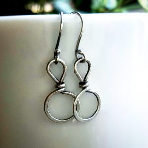 SSterling Silver Wren Clasp Earrings by Andewyn Moon