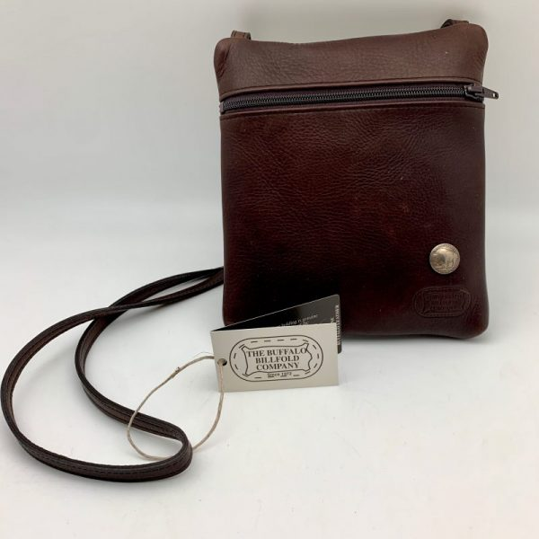 brown Leather Traveler Purse by The Buffalo Billfold Company