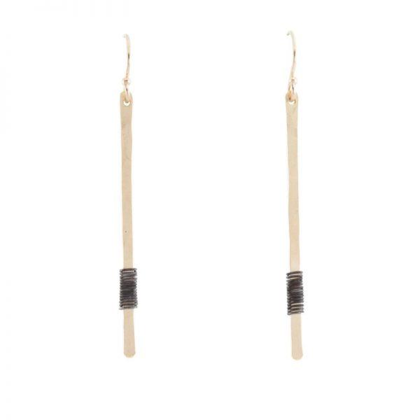 gold Linea Earrings by bohemi
