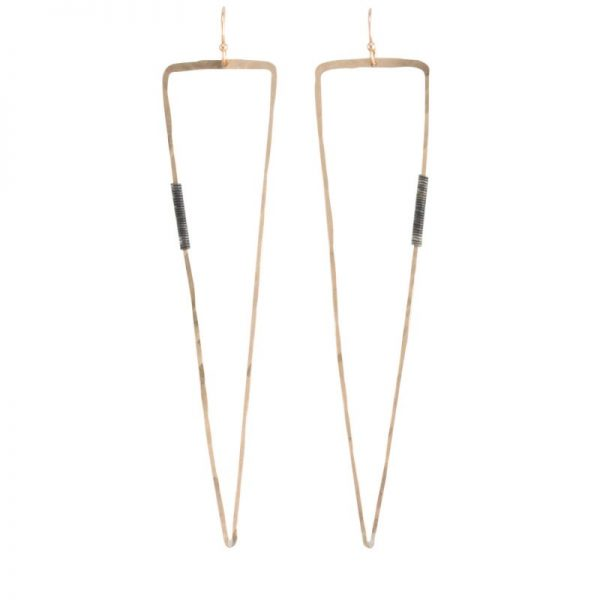 triangular Vendetta Gold Earrings by bohemi