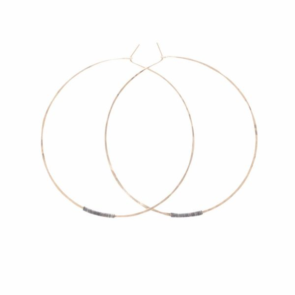 gold silver wire Sol Hoops by bohemi