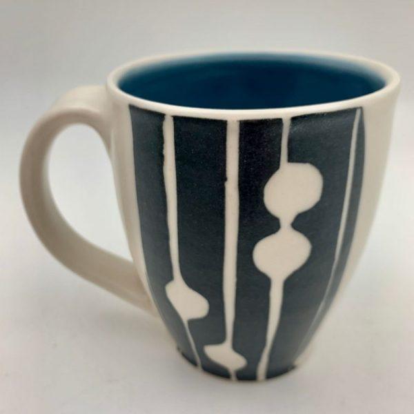 Midmod Mug - Blue by Rita Vali