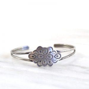 Peacock Mandala Cuff Bracelet Sarah Deangelo