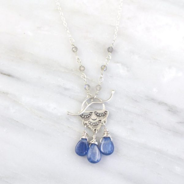Wanderer Raindrop Kyanite Toggle Necklace Sarah Deangelo