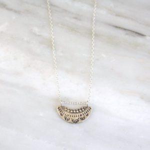 Asmi Fan Pendant Necklace Sarah Deangelo