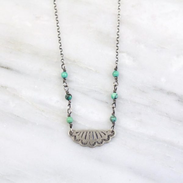 Navajo Lace Pendant and Turquoise Necklace Sarah Deangelo