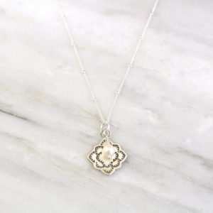 Desert Rose Pearl Charm Necklace Sarah Deangelo