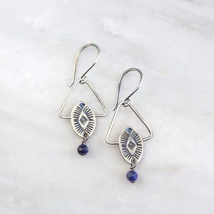 Southwest Triangle Lapis Earrings by Sarah DeAngelo