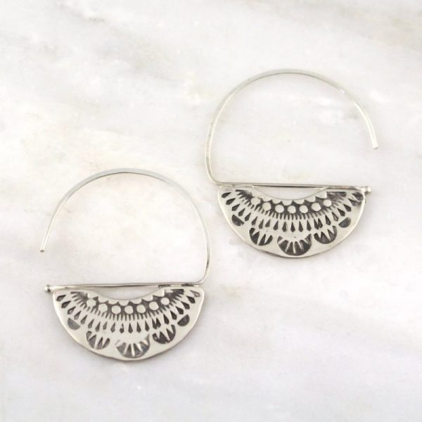 Asmi Fan Blade Earrings Sarah Deangelo