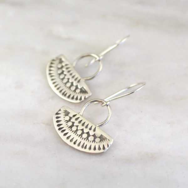 Asmi Short Loop Earrings Sarah Deangelo