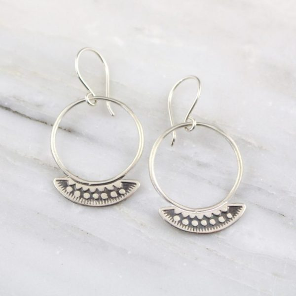 Asmi Thin Blade Southwest Hoop Earrings by Sarah DeAngelo