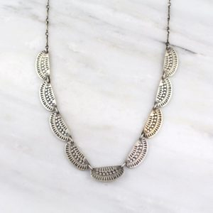 Asmi 9 Collar Silver Necklace Sarah Deangelo