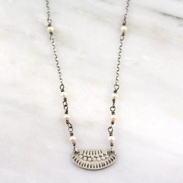 Asmi Pendant Pearl Necklace Sarah Deangelo