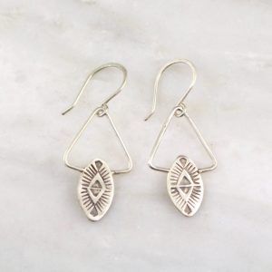 Southwest Triangle Silver Earrings Sarah Deangelo