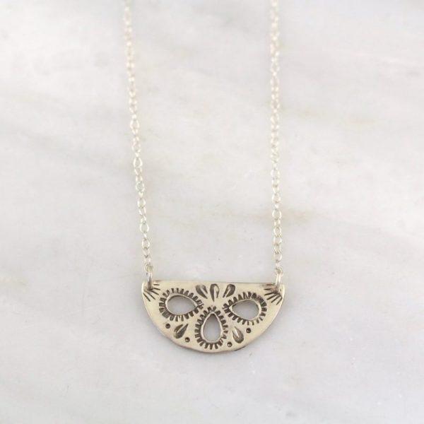 Teardrop Cutout Necklace Sarah Deangelo