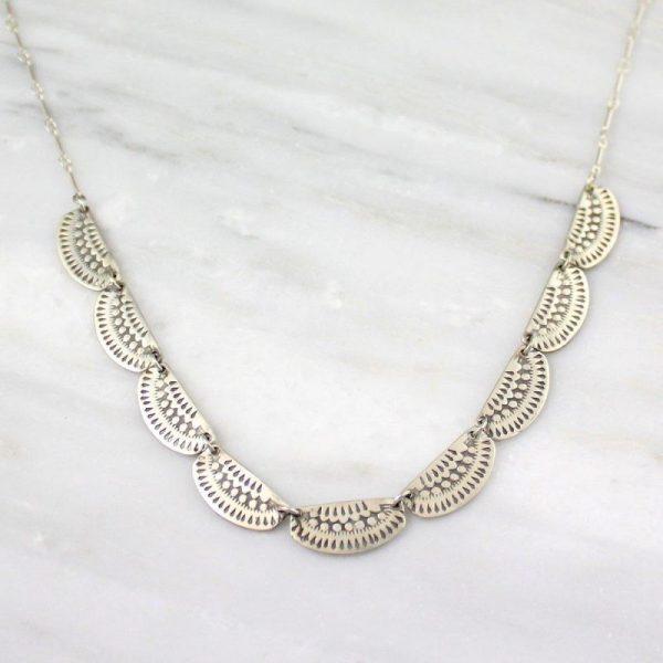 Asmi 9 Collar Silver Necklace Sarah Deangelo