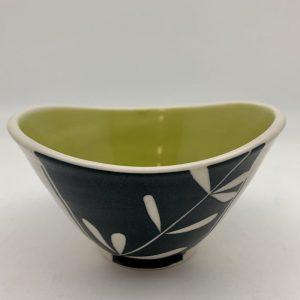 Kelp Swoop Bowl - Chartreuse by Rita Vali