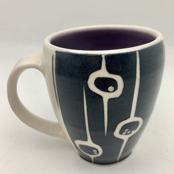 Berries & Vine Mug - Purple by Rita Vali
