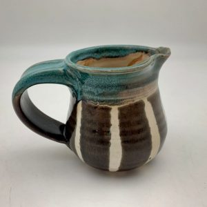 Striped Pitcher by Margo Brown