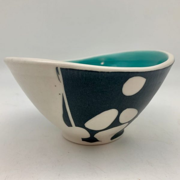 Stones Swoop Bowl - Turquoise