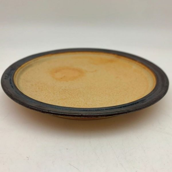 Yellow Stoneware Plate by Margo Brown