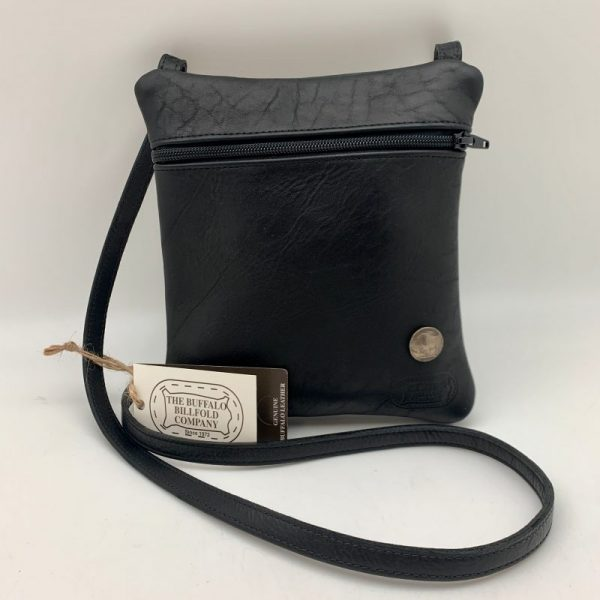 Buffalo Leather Traveler Purse - Black