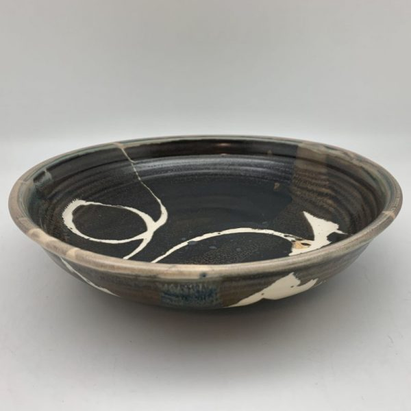 Brown Porcelain Bowl by Margo Brown