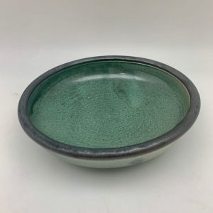 Brown Stoneware Shallow Bowl by Margo Brown
