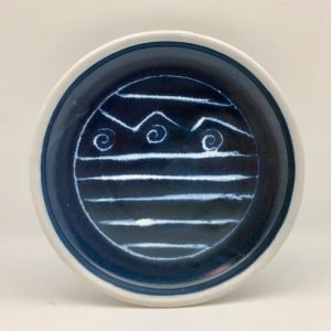 Blue and White Porcelain Dish by Margo Brown