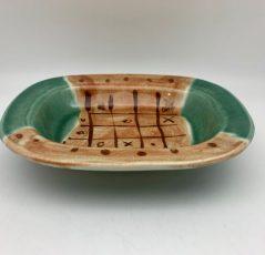 Green and Brown Dish by Lynn Munns