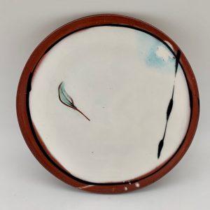 White Terracotta Plate by Victoria Christen